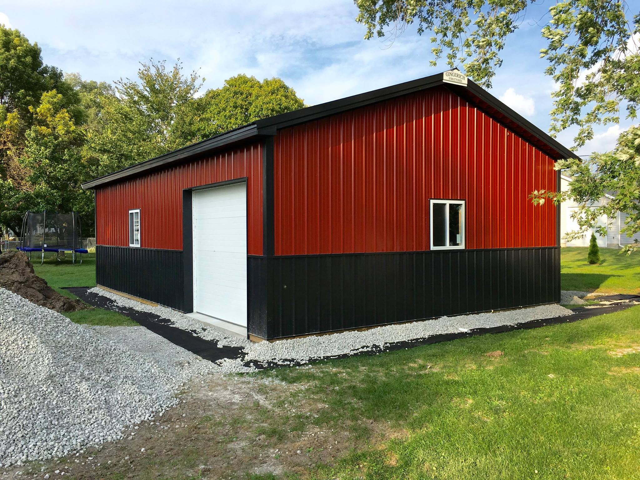 Black Barn Garage : Outdoor garage post frame buildings cedar falls ia